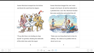 The book reader has a simple interface, with very limited annotation tools.