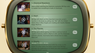 Bill's love of science shines in these videos, available for free preview or to buy.