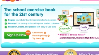 On the landing page, kids sign up, sign in, or start learning how Biteslide works.