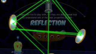 The laser and mirror game lets kids play with reflection in a fun, visually captivating way.