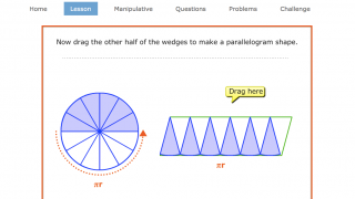 A sample of Brainingcamp's smartboard-style interactive slides