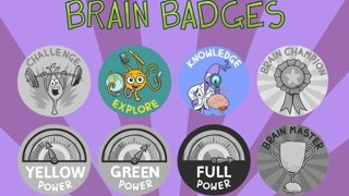 Students earn badges for accomplishments and for persevering.