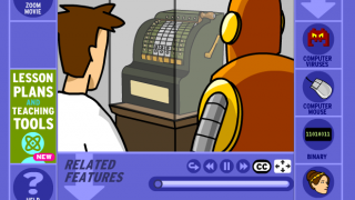Animated videos featuring hosts Tim and Moby teach students about a wide range of content.