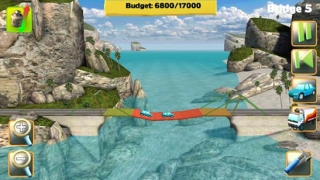 Kids have to stay within a budget while building a bridge.