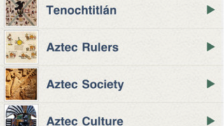 """Entries like """"Who Were the Aztec?"""" make up the bulk of the content."""