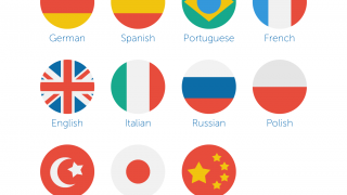 Learn one of eleven languages through vocabulary lessons, quizzes, and written exercises.