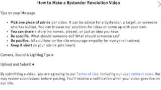 Users are given some general guidelines to help make their video submissions as effective as possible.