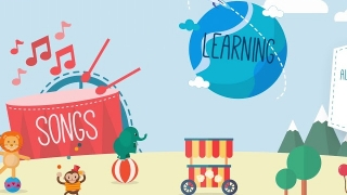 Within the app, students can explore various areas, including songs, learning, cartoons, and bedtime stories.