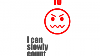 "The ""10"" face and color clearly show anger, and then the app begins the countdown."
