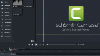 Camtasia introduces you to the tool with the Getting Started Project.