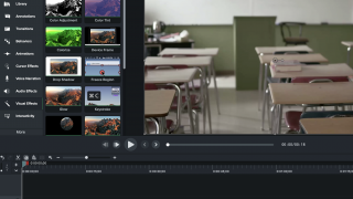Add your own media to the canvas or choose from Camtasia's library.