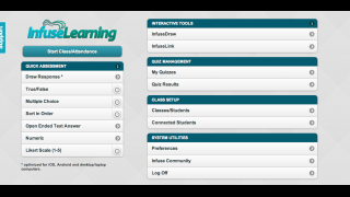 The InfuseLearning teacher dashboard.