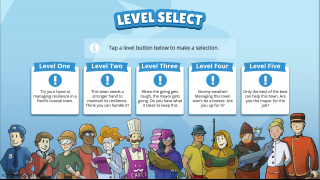 Each area has five difficulty levels.