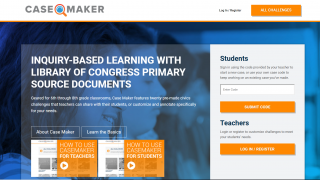 Case Maker focuses on inquiry-based learning and primary sources.