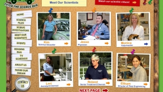 """""""Meet Our Scientists"""" highlights nine different people in science or engineering careers."""