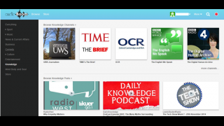 Nine media and educational categories are available to browse, follow, and post.