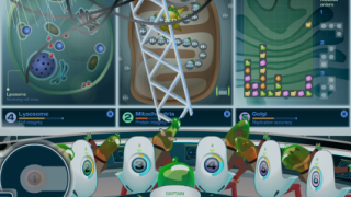 In higher levels, students multi-task among three of the minigames at once.