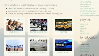 Celly's developers are eager to offer tips and examples to teachers, and the website's support resources are extensive.