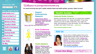Center for Young Women's Health homepage.