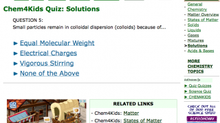 Multiple-choice, 10-question quizzes are available on a number of topics.