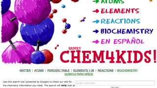 The homepage highlights the 5 major sections, as well as the Spanish site option.