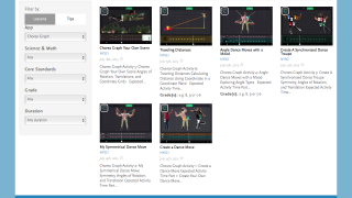 The NYSCI website has six great lesson plans for Choreo Graph.
