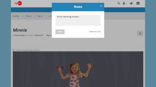 Students upload work to a teacher hub, but teacher notes aren't viewable by students.