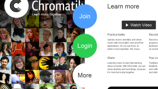 Chromatik's bold homepage emphasizes the social.