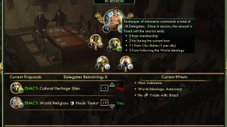 In the Brave New World expansion, a World Congress opens up diplomacy options.