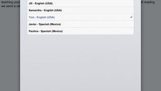 The many settings help customize reading text as well as listening to playback.