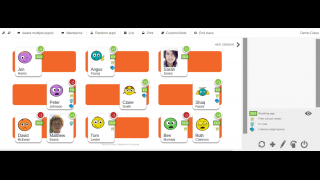 Drag and drop students onto the customizable seating chart.