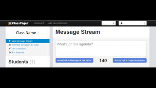 Teachers can easily poll, message, and engage from dashboard.