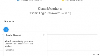 Passwords are automatically generated for students.