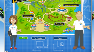 The Park Map screen, where a user begins, shows the different choices available.