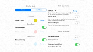 Users can adjust settings including color, music, and sound effects.