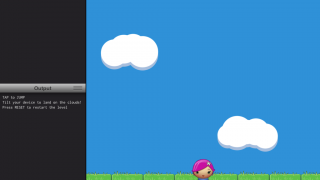 Kids can create their own programs, actually writing code, using the provided sprites and graphics.