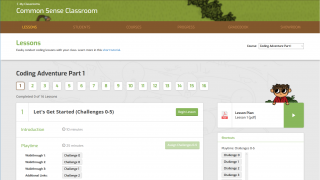 Teachers have their own dashboard where they can assign lessons, create classes, check scores, find answers, and more.