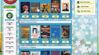 Users can browse built-in book lists, including Common Core-aligned texts.