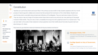 The primary sources on the Library of Congress site can serve students of all ages.