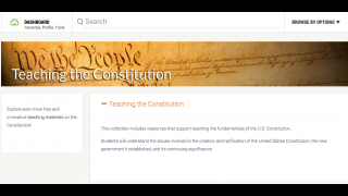 This compilation of Constitutional resources includes lesson plans and primary source docs.