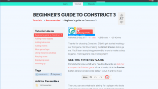 Tutorials include a very detailed guide for beginners getting started in the environment.