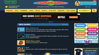 The linked games site has lots of ads, and many of the games have limited math content.
