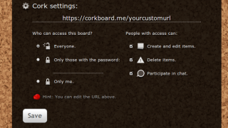 """The """"Settings"""" screen lets users choose permissions details."""