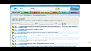 The site's Curriculum Explorer tools identifie which videos correlate to a state's educational standards.