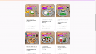 Currently (June 2020), CoSpaces Edu is featuring a global project to share what regional food is like.