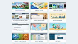 The site includes lessons and digital tools for math, science, social studies, ELA, and Spanish.