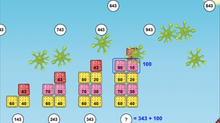 Solve math problems to earn points.