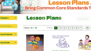 Teachers can search for lesson plans by category, grade, or Crayola product used.