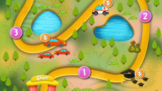 Meander down a path, unlocking new levels of the game as you go.