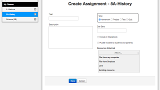 Create an assignment in seconds.